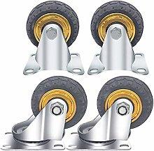 LIANGANAN 4 Castor Wheels,Heavy Duty Castors