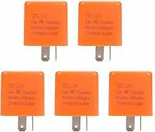 LIANGANAN Flasher Relay, 5pcs/Set 12V 2 Pin