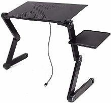 LiangDa Computer Bed Table Adjustable Foldable