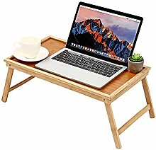 LiangDa Computer Bed Table Bamboo Wooden Table Bed