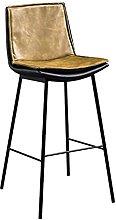 liangzishop Bar Stool Nordic Style Backrest Bar