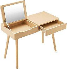 liangzishop Vanity Set Wood Dressing Table,Desktop