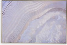 Libra Abstract Agate Framed Glass Print, 80 x