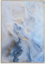 Libra Abstract Marble Framed Glass Print, 100 x