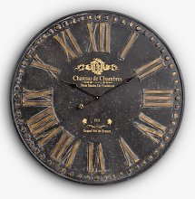 Libra Chateau Roman Numeral Round Wall Clock,