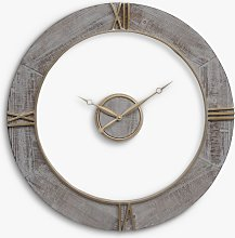 Libra Floating Roman Numeral Round Wall Clock,