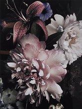 Libra Floral Framed Glass Print, 120 x 80cm,