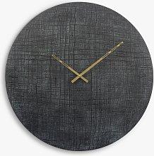 Libra Textured Aluminium Wall Clock, 76cm,