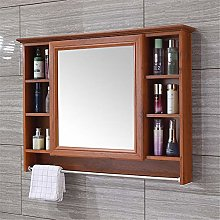 LiChaoWen Bath Mirror Cabinet Carbon Fiber