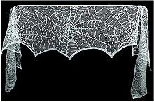 Lichi 2 Pcs Spiderweb Halloween Decoration, White