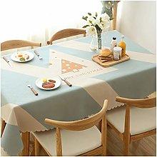 LICHUN Christmas Tablecloth Rectangular Cotton