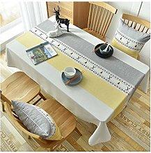 LICHUN Tablecloth Home Decor Cotton Linen Fabric
