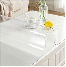 LICHUN Transparent Tablecloth Chair Mat Hard Floor