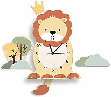 LICHUXIN Cartoon Animal Wall Clock, Cartoon Cute
