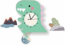 LICHUXIN Cartoon Dinosaur Wall Clock, Creative And