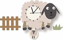 LICHUXIN Cartoon Sheep Wall Clock, Creative And
