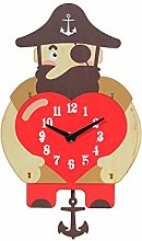 LICHUXIN Cartoon Silent Wall Clock, Creative And