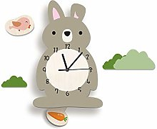 LICHUXIN Cartoon Silent Wall Clock, Cute