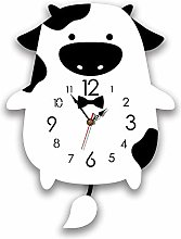LICHUXIN Cartoon Wall Clock, Creative Animal Cute