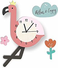 LICHUXIN Children's Cartoon Animal Wall Clock,