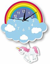 LICHUXIN Children's Cartoon Silent Wall Clock,