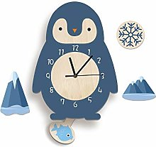 LICHUXIN Children Cartoon Wall Clock, Creative And