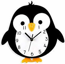 LICHUXIN Children Cartoon Wall Clock, Cute Penguin