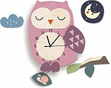 LICHUXIN Creative Cartoon Animal Wall Clock, Cute