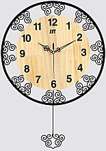 LICHUXIN Creative Iron Art Wall Clock, European