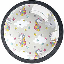 Licorne Light Gray Star 4 Pieces Crystal Glass