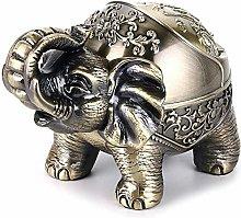 LidRetro Elephant Modeling Table Ashtray for