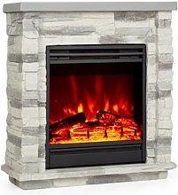 Lienz Electric Fireplace 1800W Stone Decor Remote
