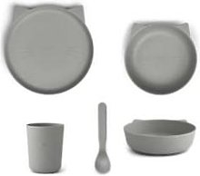 Liewood - Paul Tableware Set Cat Dove Blue