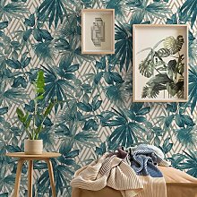 Life Forage Teal Wallpaper 156001 - Grandeco