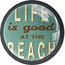 Life is Good at The Beach Cabinet Door Knobs