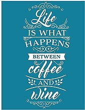 Life is What Happens Between Coffee and Wine