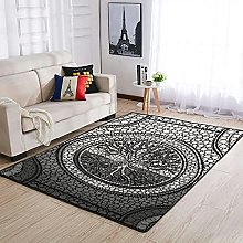 Life Yggdrasil Area Rug Patterned Soft Rectangle