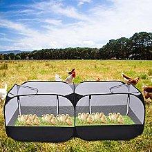 LifeBest Portable Chicken Run Coop Pet Playpen for