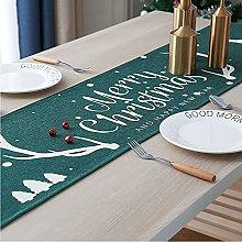 LIFEDX Christmas Table Runner,Linen Table Runner