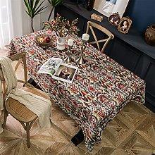 LIFEDX Tablecloth Rectangular Cotton Linen Color