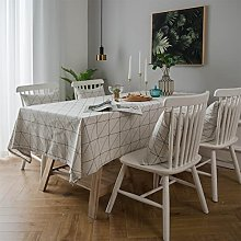 LIFEDX Tablecloth Rectangular Cotton Linen Table