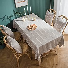 LIFEDX Tablecloth Rectangular,Cotton Linen With