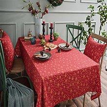 LIFEDX Tablecloth Rectangular Printed Cotton