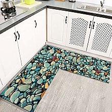 LIFEFREE Kitchen Mats Rug Set, Beautiful Stone