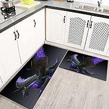 LIFEFREE Kitchen Mats Rug Set, Fantasy Dragon