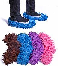 LIFEGREEN 4 Pairs Mop Slippers,Microfiber Dust Mop
