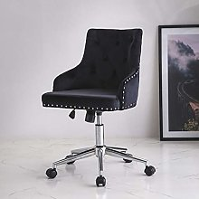 Lifetech Black Velvet Office Chair with for Home