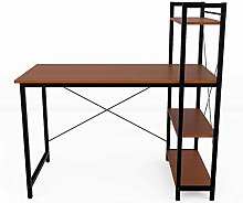 Lifetech Office Desk for Home Working Shelf with 4