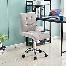 Lifetech Velvet Desk Chair No Arms Office Chairs