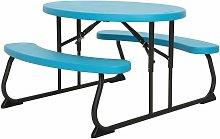 Lifetime Childrens Oval Picnic Table - Glacier Blue